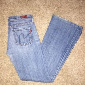 Citizen of Humanity Low Waist Flair Jeans Sz 26